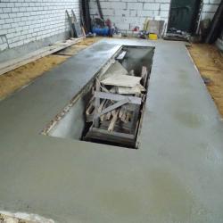 Бетонный пол в гараже, заливка пола бетоном, цена во Владимире